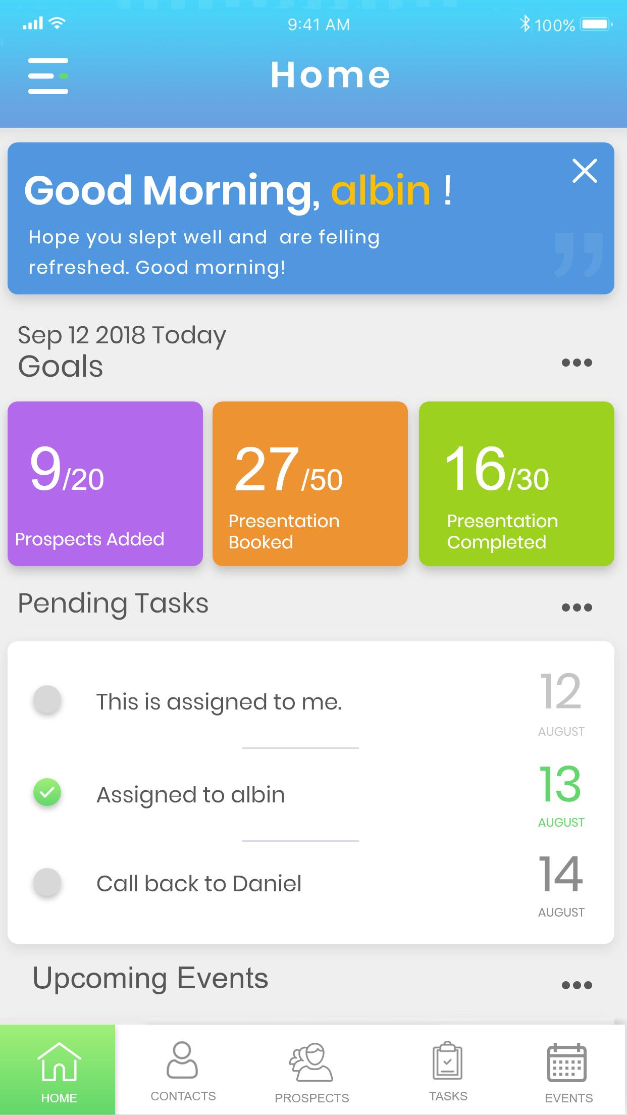 Simple Prospect App admin