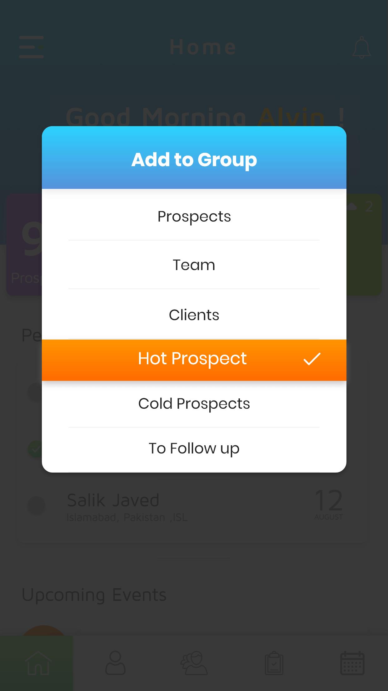 Simple Prospect App Screenshot