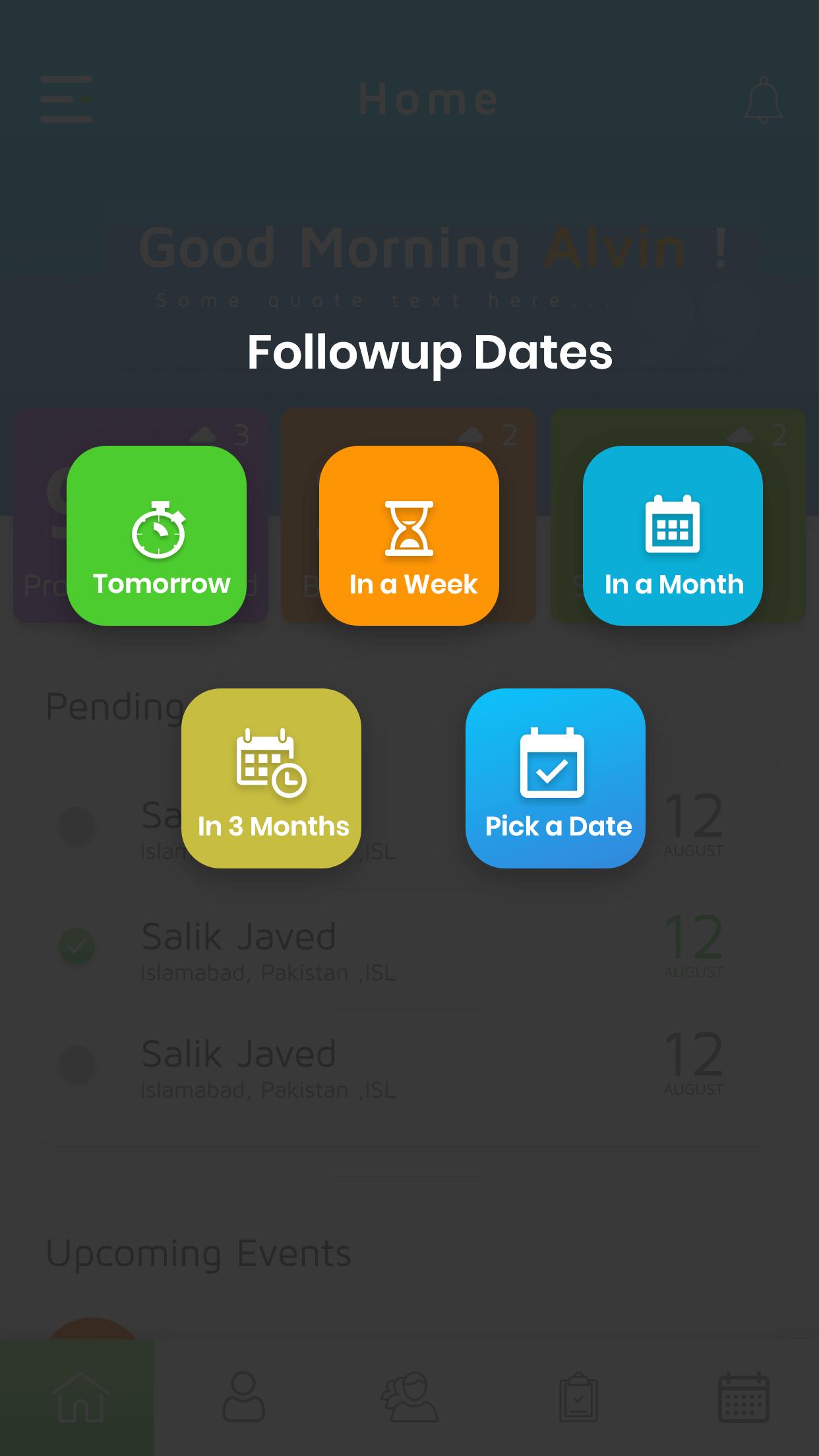 Simple Prospect App followup